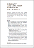 Featured Publication - Disability, long-term conditions and poverty